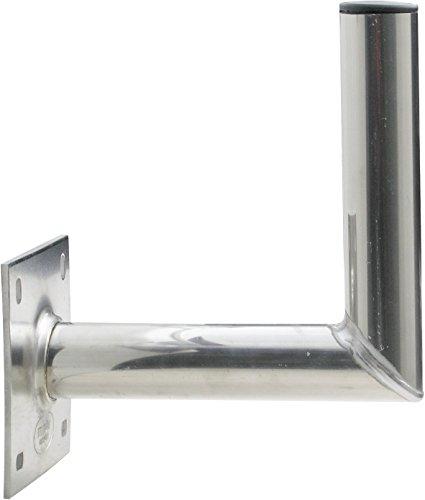 SCHWAIGER -5132- Halterung für Satelliten-Schüssel / SAT-Antenne / Satelliten-Anlage / SAT-Schüssel / Wand-Halter mit Winkel aus Aluminium / Wandabstand 25 cm