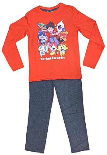Ex UK Store Boys Pyjama Set Yokai Watch Long PJ Set Orange/Grey