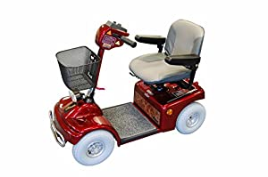 Roma Medical (Shoprider) Deluxe Class 2 Mobility Scooter Metallic - Red
