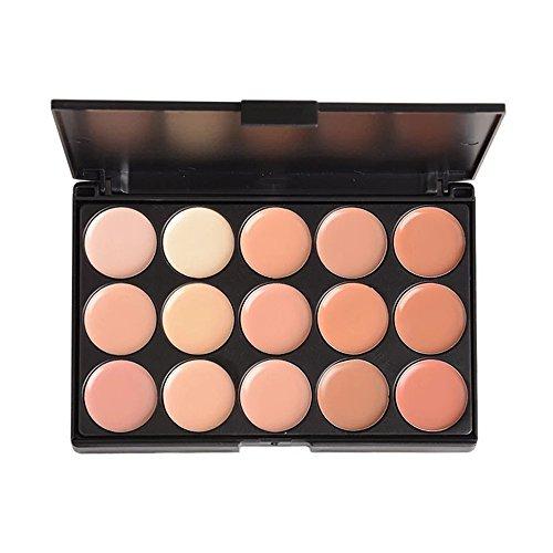 PhantomSky 15 Couleurs Palette de Maquillage Correcteur Camouflage Crème Cosmétique Set #2 - Parfait pour une utilisation professionnelle et quotidienne