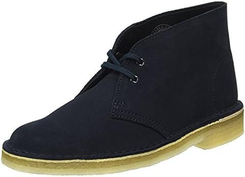 Clarks Originals Desert, Damen Desert Boots, Blau (Dark Navy Suede), 39.5 EU (6 Damen (Clarks Womens Desert Boot)