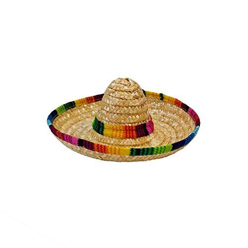 Bclaer72 Natural Straw Mini Sombrero Mini mexikanischer Hut, Tischdekoration, Partyzubehör, Fiesta Party Geburtstag Party Dekoration Hund Cap, beige, Free Size