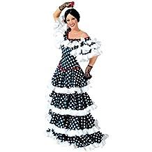 Funny Fashion Costume da tango taglia 38 40 vestito a pois bianchi e neri  modello f17ac835588b