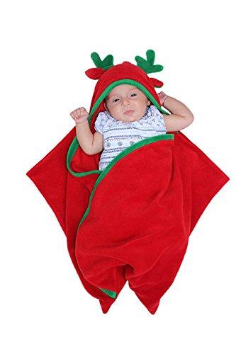 Bébé Sac de couchage, Swaddlesack, Sleepingsack, Dragon, Poussin ou Renne, Naissance de Noël, Baby Shower, Pâques, Cristening Cadeau, Echarpe de rouge red 0-6 mois