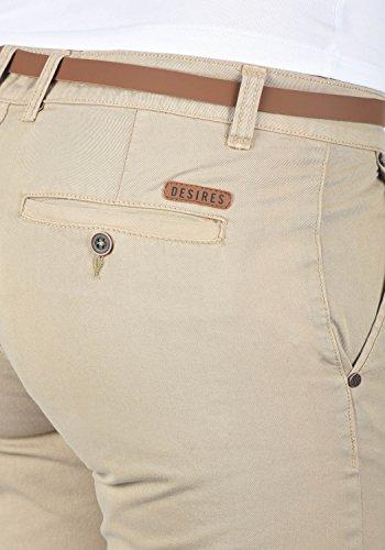 DESIRES Jacqueline Damen Chino Chinohose lange Hose mit Gürtel Simple Taupe