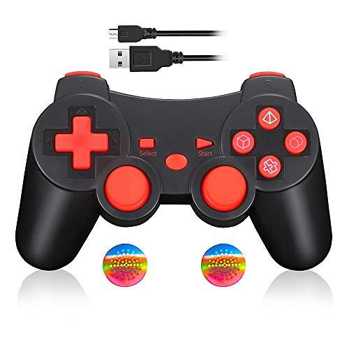 Wireless Game Controller für PS3, Bluetooth Dual Vibration Gamepad Sixaixs(6-Achsen) Joystick für Sony PS3 PlayStation 3