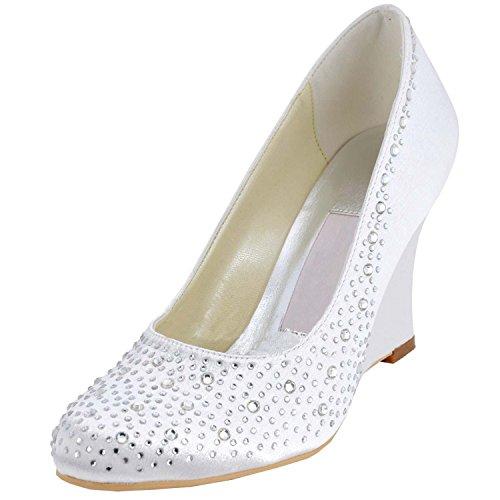 Kevin Fashion , Chaussures de mariage à la mode femme Blanc Cassé - Blanco - Style1-White