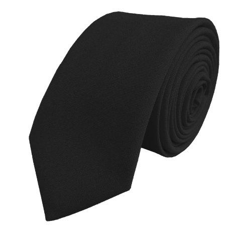 Hommes Plaine Maigre Cravates - Différentes couleurs Noir