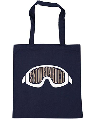 hippowarehouse-bolsa-de-playa-de-algodn-mujer-azul-azul-marino-talla-nica
