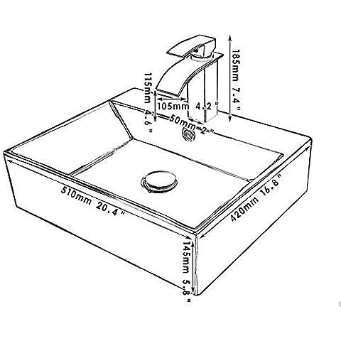 Gowe moderno quadrato nero ciotola di ceramica rotondo Countertop Pozzi/nave Bacini con pop up scarico bagno