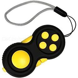 Fidget Pad / Fidget Tablet. Juego anti estrés / ansiedad. 8 funciones. Amarillo