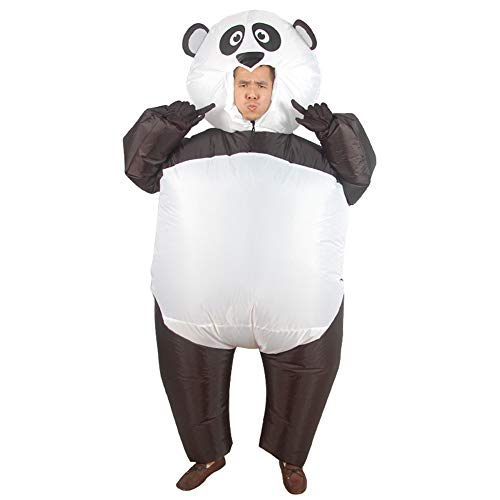 LOLANTA Erwachsener Teenager Aufblasbares Panda Kostüm Riesenpanda Halloween Kostüm 150-190cm (Panda Bär Maskottchen Kostüm)