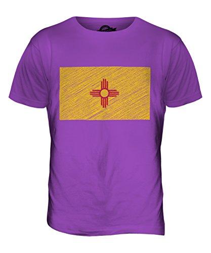 CandyMix Bundesstaat New Mexico Kritzelte Flagge Herren T Shirt Violett