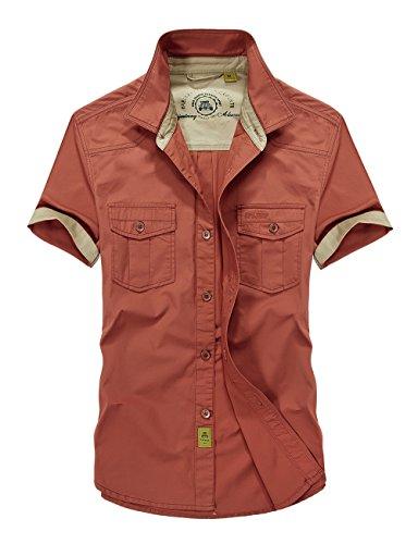 Camicie uomo estive maniche corte slim fit coreana camicetta and online 1589 (xl, arancia)