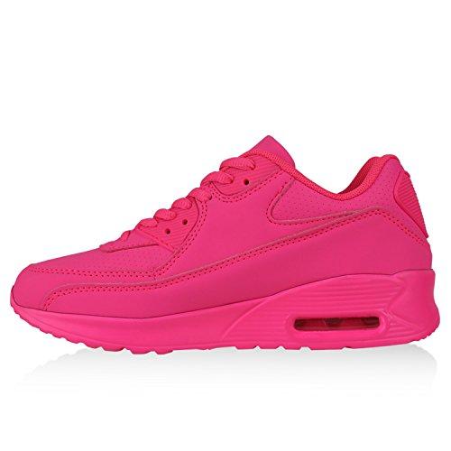 Stiefelparadies Trendige Unisex Schuhe Damen Herren Kinder Sportschuhe Metallic Camouflage Turnschuhe Blumen Sneaker Low Bunt Glitzer Muster Schnürer Flandell Pink