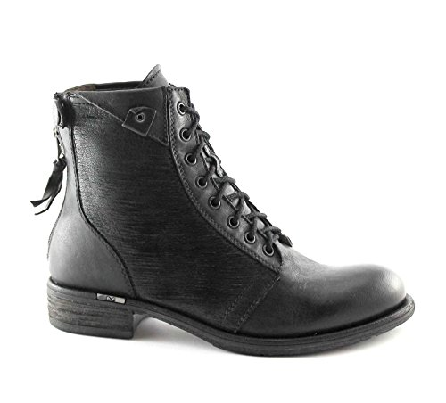 BLACK JARDINS Chaussures Boots côté zip 16111 noir femme liens