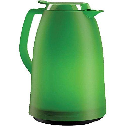Emsa 514505 Isolierkanne, 1 Liter, Quick Tip Verschluss, 100% dicht, Grün, Mambo