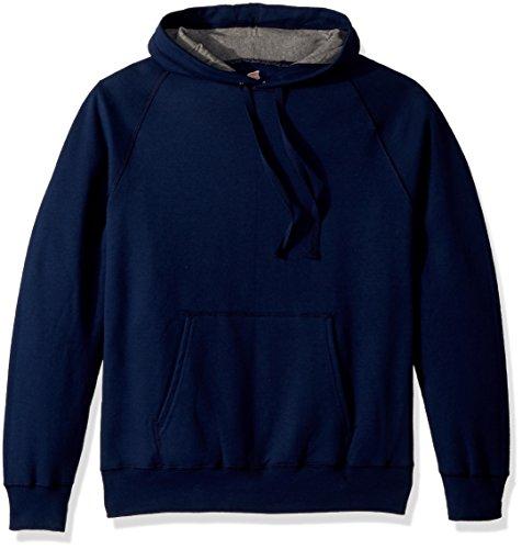 Hanes Men's Nano Premium Lightweight Fleece Hooded Sweatshirt, Navy, X Large Navy Hooded Fleece-sweatshirt