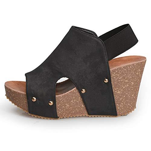 Scarpe Kinlene in Vendita! Sandali con Zeppa Piattaforma Aperta da Donna Sandali con Cinturino alla Caviglia Sandali con Cinturino alla Caviglia Spesso Sandali con Cinturino Scarpe con Cinturino
