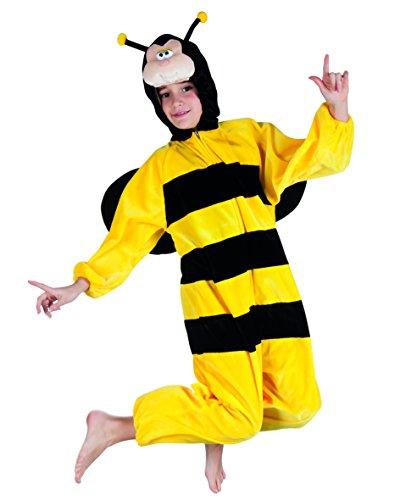 Boland 88214 Kinderkostüm Honigbiene aus Plüsch, schwarz, 140 (Biene Jungen Kostüm)