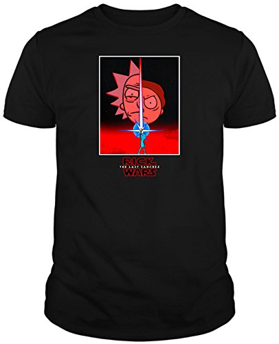 Camiseta de Rick and Morty Divertida Friky Smith Tiny Star Wars Niños 3-4Años Negro