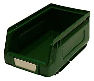 Bott 13031026 No 2 Paniers de rangement en plastique avec 24 étiquettes vert