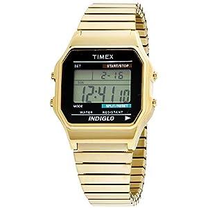 Timex – Reloj Digital de Cuarzo para Hombre, Correa de Acero Inoxidable
