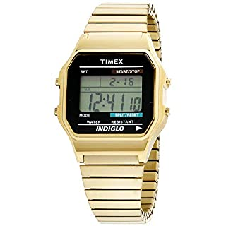 Timex T78677 Men Classic Quartz Watch with LCD Dial Digital Display and Gold Stainless Steel Bracelet (B000SQM5PE) | Amazon price tracker / tracking, Amazon price history charts, Amazon price watches, Amazon price drop alerts