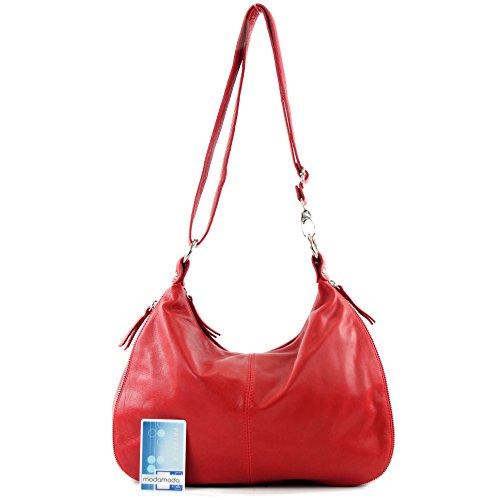 modamoda de �?italiano Borsa in pelle borsa a tracolla borsa donna borsa a tracolla in nappa T56 Rot