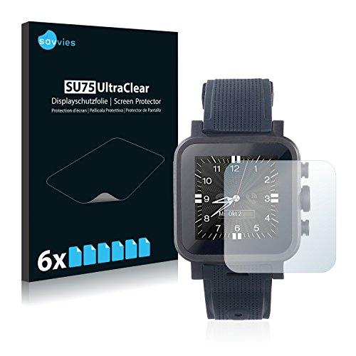 Savvies Schutzfolie für Simvalley Mobile AW-420.RX [6er Pack] - klarer Bildschirmschutz