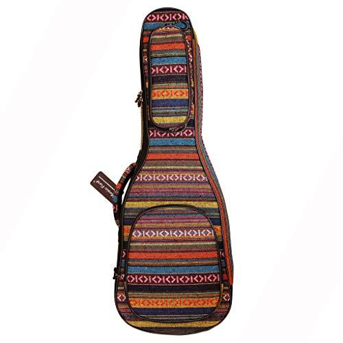 Music First Koffer für Bariton-Ukulele, 15 mm dick, gepolstert, Landhausstil, für Ukulelen Hochwertiges Produkt.