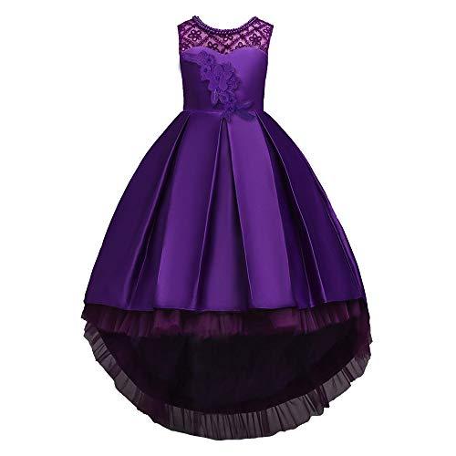 Mädchen Kleid Rock ❤️SHOBDW Blume Kinder Mädchen Kleid Prinzessin Formale Festzug Urlaub Hochzeit Brautjungfer Kleid für Fasching (170/ 12Jahr, ()