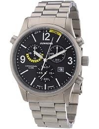 Junkers Herren-Armbanduhr XL Flugweltrekorde G38 Chronograph Quarz Titan 6296M5