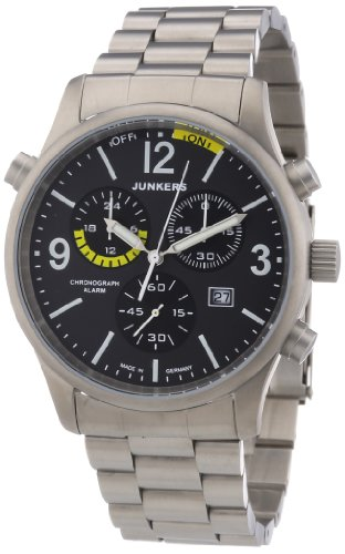 Junkers Men's Chronograph Watch 6296M With Grey Dial ,Titanium Case And Bracelet