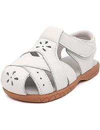 b84e8767c652 Femizee Girls Genuine Leather Cloesed Toe Summer Sandals(Toddler Little Kid)