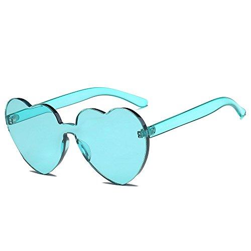 VRTUR 1 Stück Damen Metall Sonnenbrillen Nettes Herz-Form-Design Objektiv Outdoor Brillen Form Sonnenbrillen Unisex(One size,F)