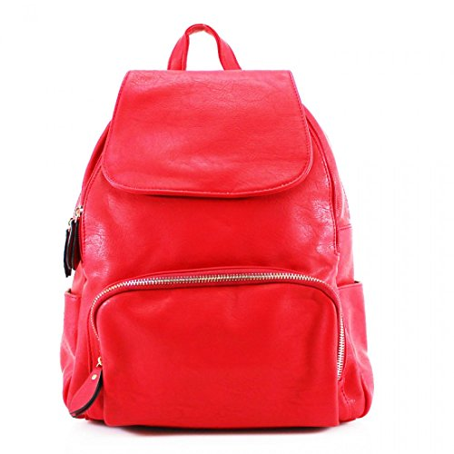 Craze London, Borsa a zainetto donna Red