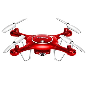 Syma X5UW PRO WIFI FPV Drone Live Video with 3.0 MP HD Camera RC Headless Mode Quadcopter Gift Toys - Red(4GB TF Card)
