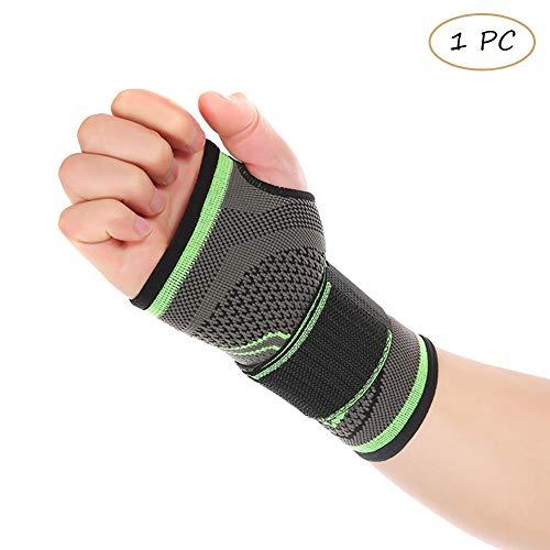 Tendinitis (Houlife Verstellbare Handgelenkstütze Hand Kompression Sleeve Unterstützung mit einer Daumenschlaufe für Gewichtheben, Karpaltunnel, Tendinitis, Sportverletzungen 1 Stück)