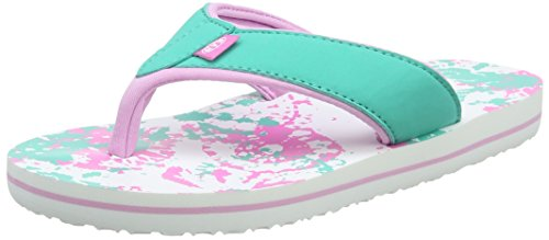 Animal Girls' Swish Aop Flip Flops, Green (Ocean Green), 2 UK 34 EU
