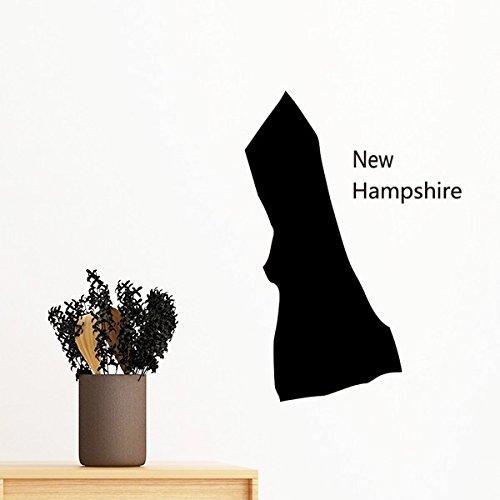 New Hampshire der Vereinigten Staaten von Amerika USA Karte Silhouette abnehmbarer Wandtattoo Kunst Aufkleber Wandbild DIY Tapete für Raum Aufkleber 70cm (Vereinigte Staaten-map-kunst)