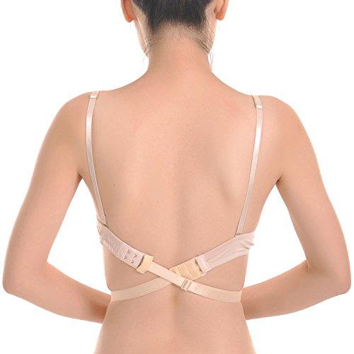 Closecret Women's Adjustable Low Back Bra Converter Straps 2 Hooks(Pack of 3) Test