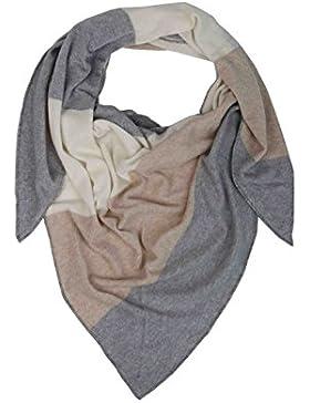Dreieckstuch mit Kaschmir - Hochwertiger Schal mit Streifen für Damen Jungen und Mädchen - XXL Hals-Tuch und Damenschal...