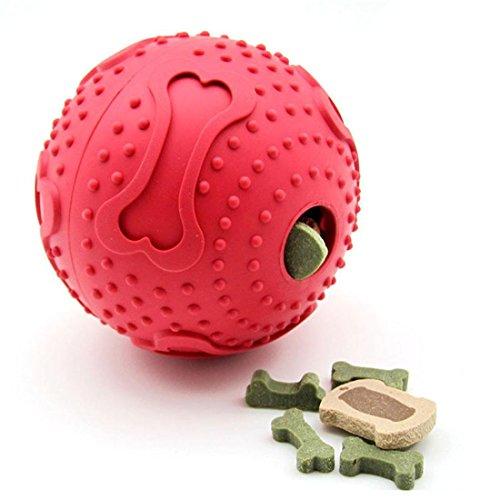 nieren Kauen Spielzeug Bälle Zahn Reinigung Ball, Essen Halter Dental Behandeln Beißen Beständig Haustier Spielen Kauen Laufen Ungiftig Weich , M (Lkw Oder Zu Behandeln)