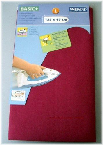 Wenko Bügeltischbezug, Bügelbrettbezug Basic Plus L, max. Bügelbrettgröße 125 x 45 cm brombeere