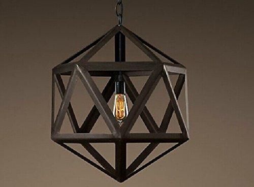 RFF-stile europeo creativo unico Lampadario diamante sfaccettato creativo retro ferro