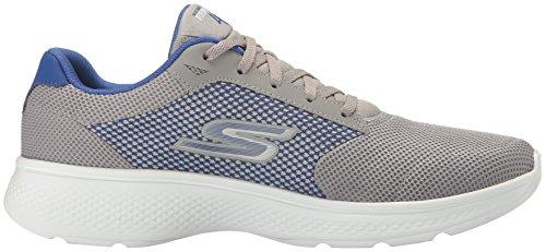 Skechers Go Walk 4, Scarpe da Ginnastica Basse Uomo Grey/Blue Knit
