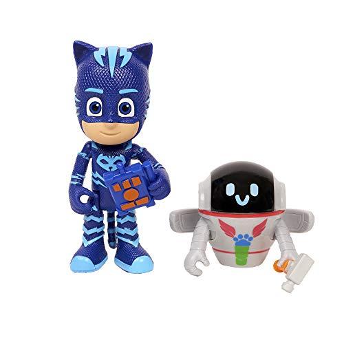 PJ Masks - Pack de 2 figuras Gatuno y PJ Robot (Bandai 95264)