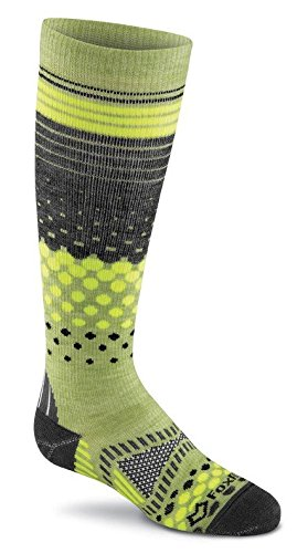 Fox River Kids Okemo over-the-calf Socken, unisex, grün (Fox River Socken Kids)