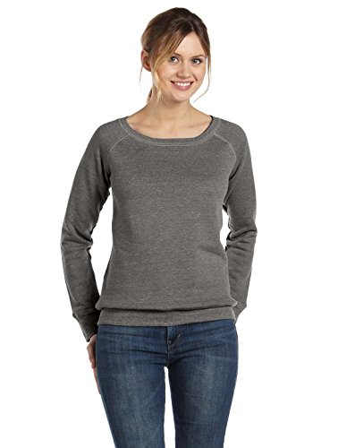 Bella+Canvas: Sponge Fleece Wideneck Sweatshirt 7501 Blue Triblend